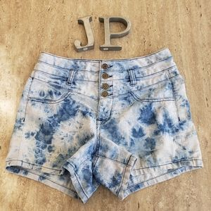 🌺 Body Central tie dye high waisted 4 button fly shorts size 5